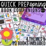 Spring Theme Speech Therapy Book Companions: Quick Prep