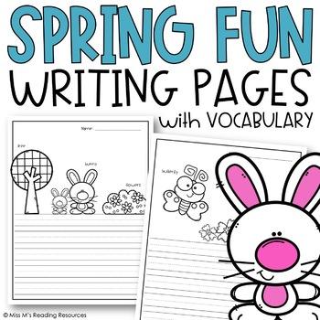 Spring Theme Writing Paper