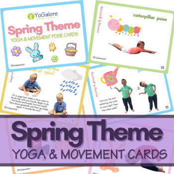 Distance Learning: Spring Theme Yoga & Movement Cards