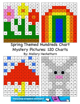 Spring Themed 120 Chart Mystery Pictures