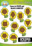 Spring 2D Icon Shapes Clipart {Zip-A-Dee-Doo-Dah Designs}