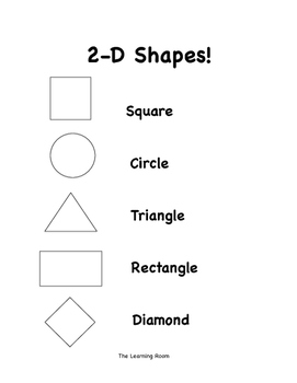 Spring Themed 2D Shapes Printables and Posters! - In Black and White