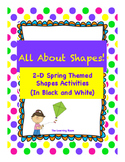 Spring Themed 2D Shapes Printables and Posters! - In Black