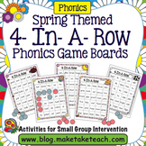 Spring Themed 4-In-A-Row Phonics Game Boards