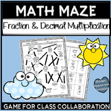 Fraction and Decimal Review Games 5th Grade End of Year Activities
