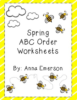 Spring Themed  ABC Order