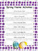 Spring Themed Activities