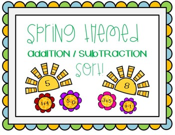 Addition and Subtraction Sort Center