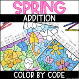Spring Addition to 10 | No Prep Color By Number Activities