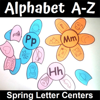 Spring Themed Alphabet Beginning Sounds Matching Center