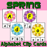 Spring Themed Alphabet Clip Cards