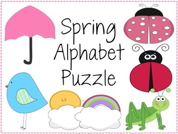 Spring Themed Uppercase and Lowercase Alphabet Puzzle PACK
