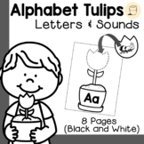 Spring Themed Alphabet Tulips - Initial Sounds - Free - Bl