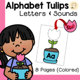 Spring Themed Alphabet Tulips - Initial Sounds - Free - Colored