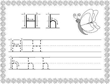 Spring Themed Alphabet/Handwriting Book
