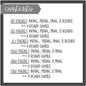Spring-Themed Articulation Board Games BUNDLE