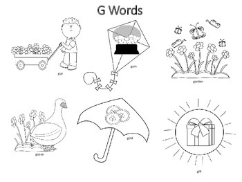 Spring Themed Articulation K & G Sounds Coloring Work Sheets Print & Go!