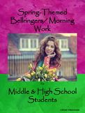 Spring-Themed Bellringers for Middle & High School Student