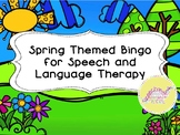 Spring Themed Bingo for Speech and Language Therapy