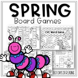 Spring Board Games to Review CVC Words, Phrases, Vowel Teams, and Sentences