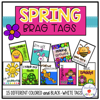 Spring Themed Brag Tags- Classroom Management Tool