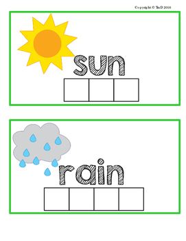 Spring Themed Build-a-Word Activity