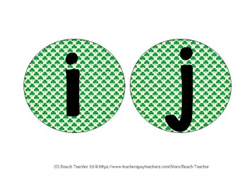 St. Patrick's Day Bulletin Board Letter Headers