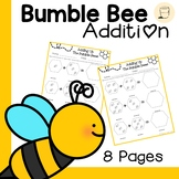 Spring Themed Bumble Bee Addition Worksheets - Free