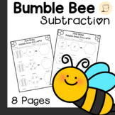Spring Themed Bumble Bee Subtraction Worksheets- Free