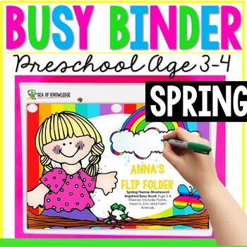 Spring Printable Learning Busy Book Preschool Toddlers Editable