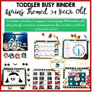Spring Printable Learning Busy Book Preschool Toddlers - CUSTOM