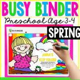 Spring Printable Learning Busy Book Preschool Toddlers - EDITABLE