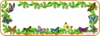 Spring Themed Butterflies and Flowers Desk Name Plates