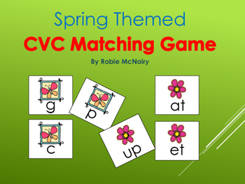 Spring Themed CVC Matching Game