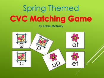 Spring Themed CVC Matching Game