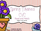 Spring Themed CVC Read and Match Middle A and I Words
