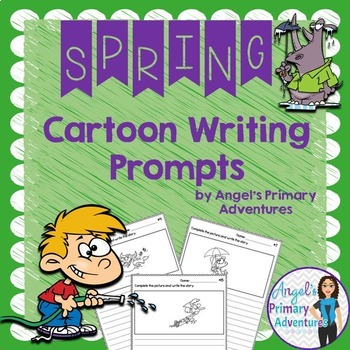Spring Themed Cartoon Writing Prompts