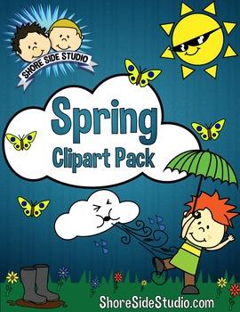 Spring Themed Clip Art Pack