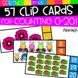 Spring-Themed Clip Cards for Counting 0-20