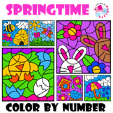 Spring Themed Color by Number, Color by Code