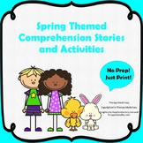 Spring Themed Comprehension Stories and Activities