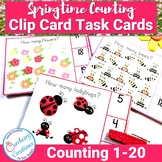Spring Themed Count and Clip Cards