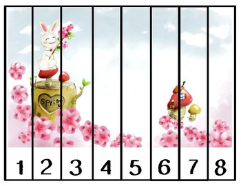 Spring Themed Counting Puzzle Pack