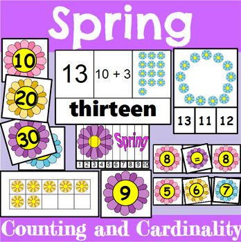 Spring Themed Counting and Cardinality Centers for Kindergarten