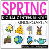 Spring DIGITAL Centers for Kindergarten   Math and Literacy Centers BUNDLE