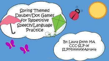 Spring Themed Dauber/Dot game for repetitive speech/langua