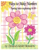 Spring Themed Decomposing Numbers Set
