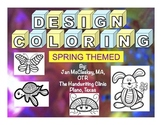 Fine Motor: Spring Themed Design Coloring Sheets for Grasp