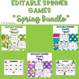 Spring Themed EDITABLE Spinner Games Bundle