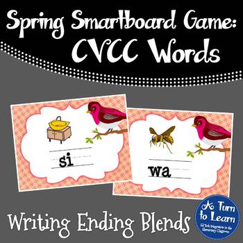 Spring Themed Ending Blends Game for Smartboard or Prometh